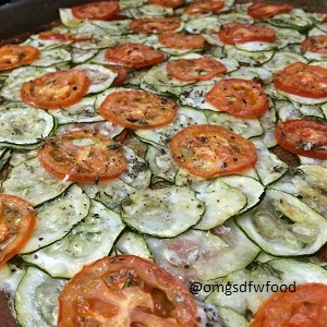 Baked Herbed Tomato Zucchini