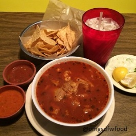 Menudo and Horchata at Tipicos
