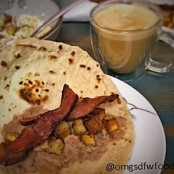 OMGs DFW Food - Breakfast Taco with Coffee